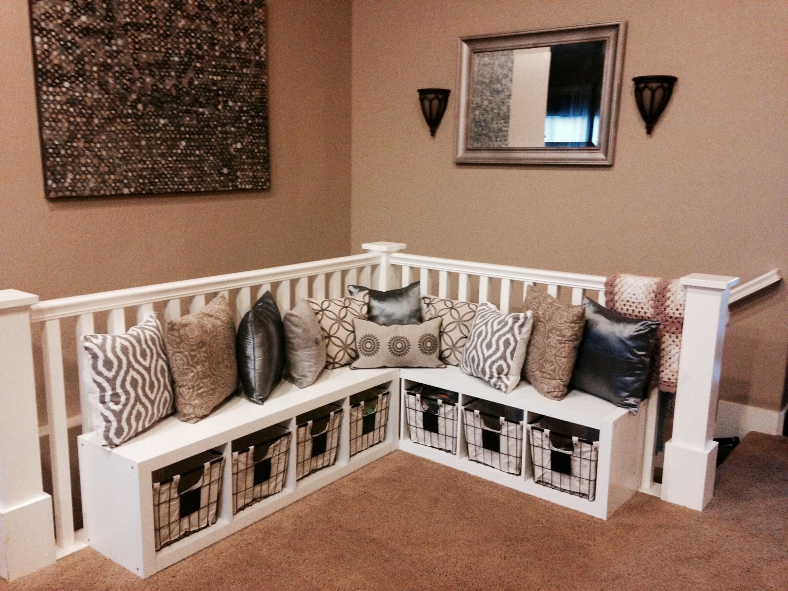 Designer quick tips adding storage to dead space south - Leave you dead in the living room ...
